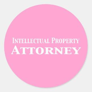 Regalos del abogado de la propiedad intelectual pegatina redonda