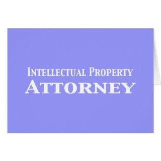Regalos del abogado de la propiedad intelectual tarjeta de felicitación