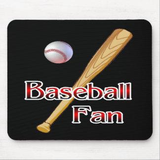 Regalos del aficionado al béisbol alfombrillas de ratones