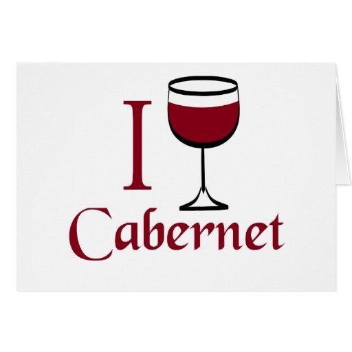 Regalos del amante del vino de Cabernet Tarjetas
