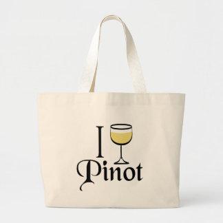 Regalos del amante del vino de Pinot Grigio Bolsas Lienzo