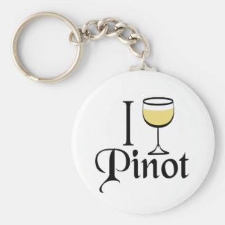Regalos del amante del vino de Pinot Grigio Llaveros Personalizados