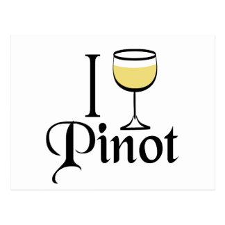Regalos del amante del vino de Pinot Grigio Tarjeta Postal