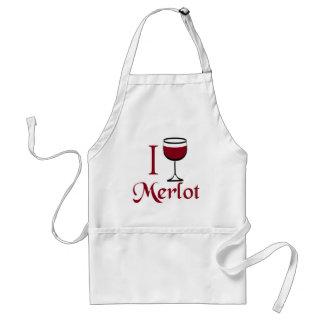 Regalos del amante del vino del Merlot Delantal