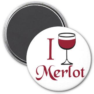 Regalos del amante del vino del Merlot Imanes De Nevera