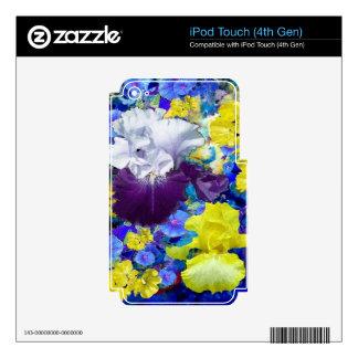 Regalos del amarillo del jardín del iris por skins para iPod touch 4G
