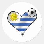 Regalos del amo del te del futbol del fútbol de la pegatina redonda