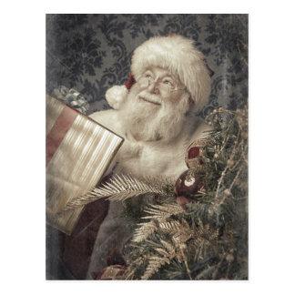 Regalos del amor de Papá Noel en el navidad Postal