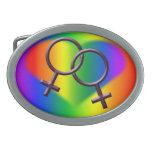 Regalos del amor del arco iris de la hebilla del c hebillas de cinturon ovales