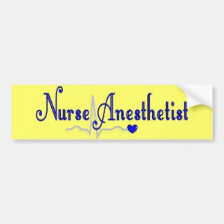 Regalos del Anesthetist de la enfermera Etiqueta De Parachoque