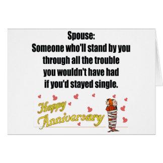 Regalos del aniversario de boda tarjeta