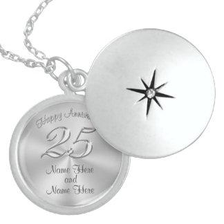 Regalos del aniversario de la plata esterlina para pendiente