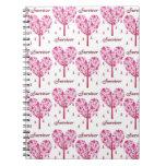 Regalos del árbol de cinta del rosa del supervivie cuaderno
