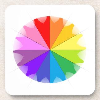 Regalos del arco iris de Colorwheel Posavasos De Bebida