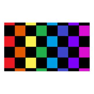 Regalos del arco iris del orgullo gay - tablero de tarjetas de visita