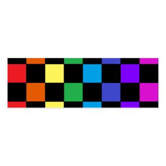 Regalos del arco iris del orgullo gay - tablero de tarjetas de visita mini