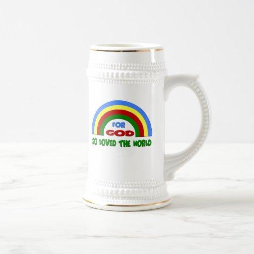 Regalos del arco iris jarra de cerveza