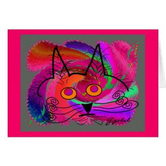 Regalos del arte abstracto de los amantes del gato felicitacion
