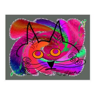 Regalos del arte abstracto de los amantes del gato postal