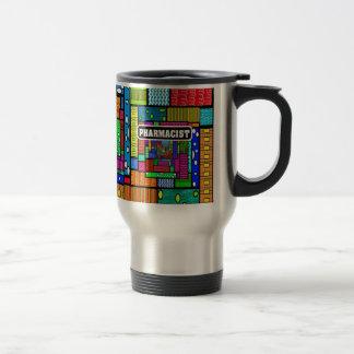 Regalos del arte abstracto del farmacéutico taza de café