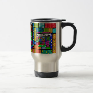 Regalos del arte abstracto del farmacéutico taza térmica