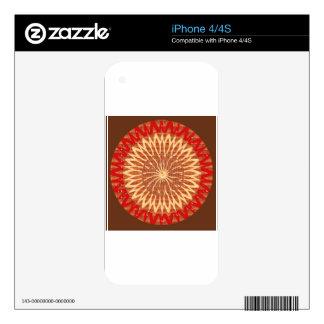 REGALOS del ARTE curativo del girasol de Chakra iPhone 4 Skin