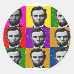 Regalos del arte de Abraham Lincoln---9 fotos Pegatinas Redondas