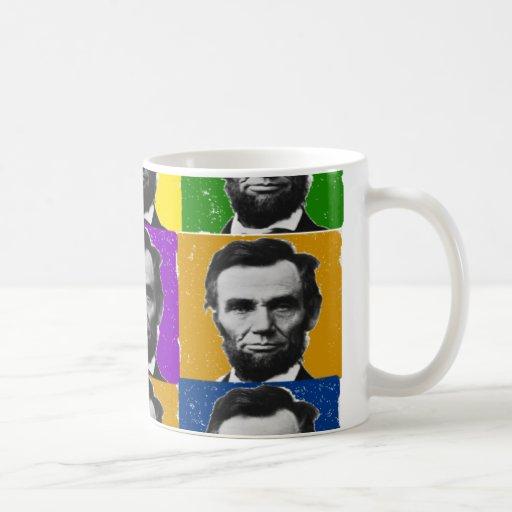 Regalos del arte de Abraham Lincoln---9 fotos Taza De Café