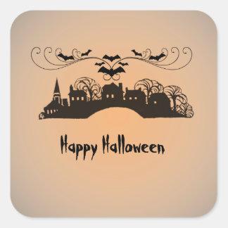 Regalos del arte de Halloween Pegatina Cuadrada