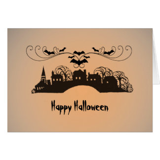 Regalos del arte de Halloween Tarjeta De Felicitación