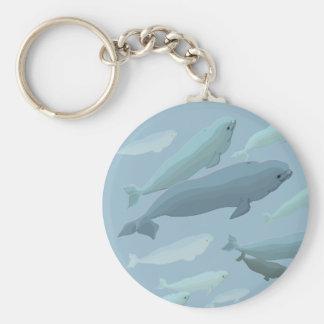 Regalos del arte de la ballena del llavero de la b