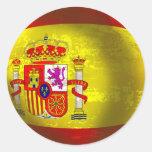 Regalos del arte de la bola del Grunge de España Pegatina Redonda
