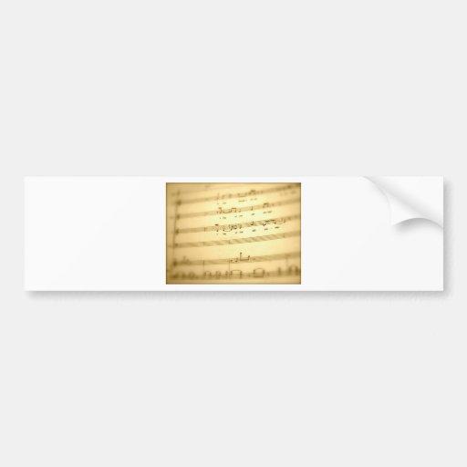Regalos del arte de la cuenta de la música etiqueta de parachoque