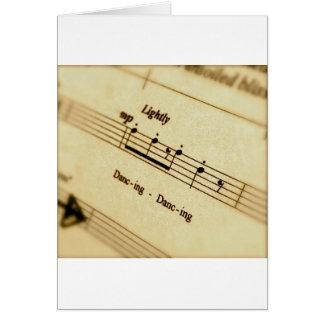 Regalos del arte de la cuenta de la música felicitación