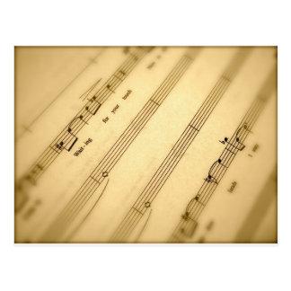 Regalos del arte de la cuenta de la música tarjeta postal