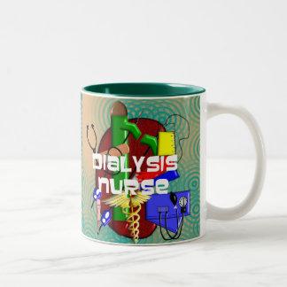 Regalos del arte de la enfermera de la diálisis taza dos tonos