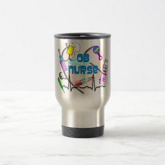 Regalos del arte de la enfermera de OB Tazas De Café