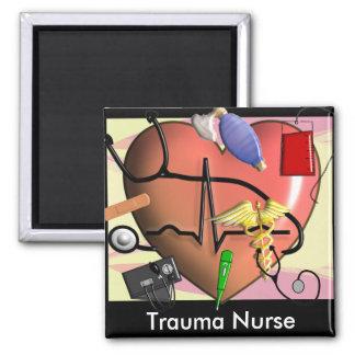 Regalos del arte de la enfermera del trauma iman de frigorífico