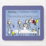 Regalos del arte de la enfermera tapetes de ratones