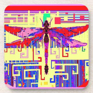 Regalos del arte de la libélula de Tang por Sharle Posavasos De Bebida