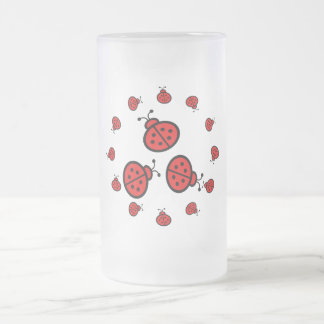 Regalos del arte de la mariquita taza de cristal