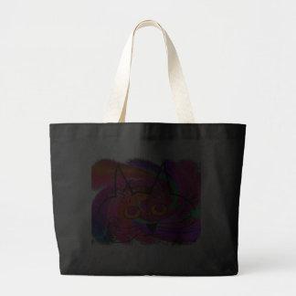Regalos del arte de los amantes del gato negro bolsas