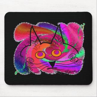 Regalos del arte de los amantes del gato negro alfombrillas de ratón