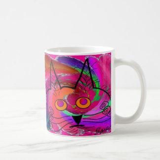 Regalos del arte de los amantes del gato negro tazas de café