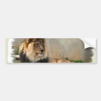 Regalos del arte de los amantes del león etiqueta de parachoque