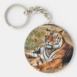 Regalos del arte de los amantes del tigre llaveros