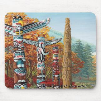Regalos del arte de Vancouver del recuerdo de Vanc Alfombrillas De Ratón