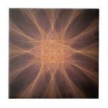 Regalos del arte del fractal de la estrella del na tejas  ceramicas