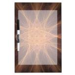 Regalos del arte del fractal de la estrella del na tablero blanco