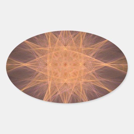 Regalos del arte del fractal de la estrella del pegatinas ovales